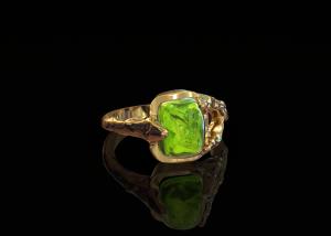 Gouden ring smaragd