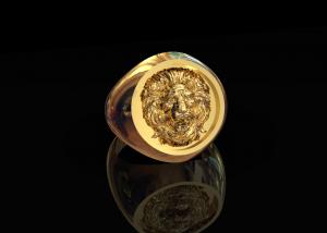 Goud ring sterrenbeeld leeuw